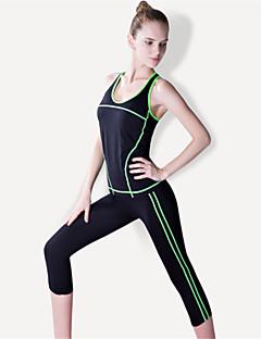 Yoga & Dansesko Joggedress Klessett Fort Tørring Pustende Komprimering Bekvem Høy Elastisitet Drakter DameYoga & Danse Sko Pilates