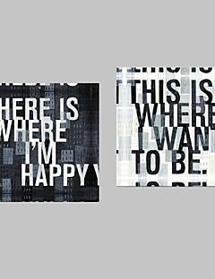 Întinse Cuvinte Canvas Art & Citate Set de 2