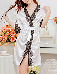 Robe de chambre Ultra Sexy Vêtement de nuit Femme Polyester Blanc Rose Violet Bleu