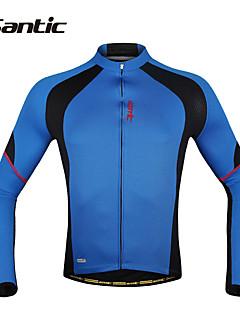 SANTIC Maillot de Cyclisme Homme Manches Longues Vélo Maillot Veste Hauts/Tops Séchage rapide Résistant aux ultraviolets Perméabilité à