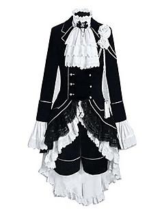 Inspirirana Crna Butler Ciel Phantomhive Anime Cosplay nošnje Cosplay Suits Color block Kolaž Dugih rukava Mellény Shirt Suknja Glava