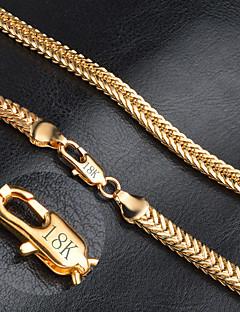 Homens Feminino Colares em Corrente Ouro Moda bijuterias Jóias Para Casamento Festa Diário Casual Presentes de Natal