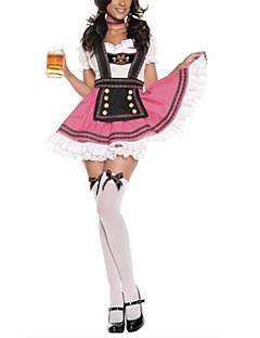 Cosplay Kostumer Festkostume Oktoberfest Festival/Højtider Halloween Kostumer Patchwork Halsklud KjoleHalloween Karneval Nytår