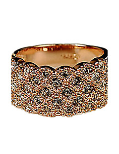 Evlilik Yüzükleri Yapay Elmas alaşım Moda Altın Gümüş Mücevher Parti 1pc