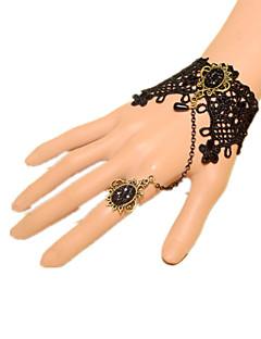 Sieraden Klassiek en Tradtioneel Lolita Armband Geïnspireerd door vintage Prinses Lolita-accessoires Armband Strik Kant Effen VoorKant