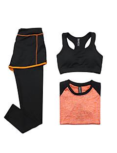 Mulheres Moletom Manga Curta Secagem Rápida Respirável Sutiã Esportivo Camiseta Calças Blusas Conjuntos de Roupas para Ioga Exercício e