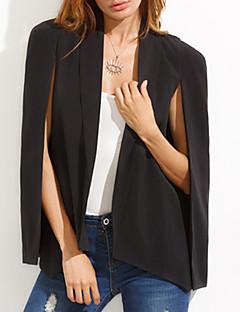 Damen Solide Einfach Lässig/Alltäglich Anzug,Hemdkragen Frühling Herbst Langarm Standard Polyester