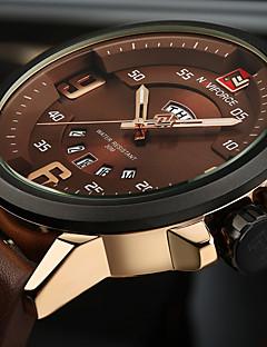 NAVIFORCE Herren Sportuhr Militäruhr Modeuhr Armbanduhr Einzigartige kreative Uhr Armbanduhren für den Alltag Japanisch QuartzKalender