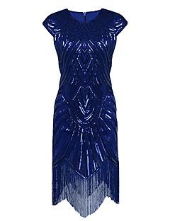 vaipan / pylvään jalokivikaulus epäsymmetrinen polyesteri cocktail party kotipukuinen mekko paljetilla