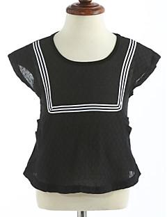 Tyttöjen Yhtenäinen T-paita Puuvilla Kesä Lyhythihainen