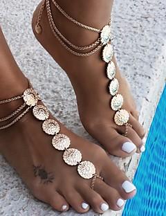 נשים תכשיט לקרסול/צמידים סגסוגת וינטאג' תכשיטים Flower Shape תכשיטים עבור יומי קזו'אל ספורט