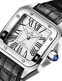 Pánské Módní hodinky Křemenný Voděodolné Pravá kůže Kapela Černá