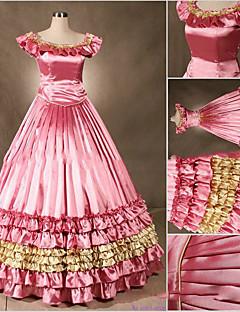 Uma-Peça/Vestidos Gótica Lolita Cosplay Vestidos Lolita Fúcsia Vintage Concha Sem Manga Short / Mini Vestido Para Outro