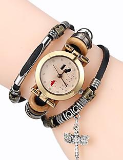 Damen Armband-Uhr Chinesisch Quartz Leder Band Cool Bequem Schwarz Weiß Blau Braun