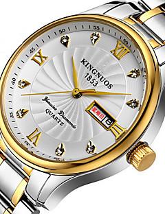 KINGNUOS Herren Modeuhr Armbanduhr Einzigartige kreative Uhr Armbanduhren für den Alltag Quartz Kalender Edelstahl BandCool Bequem