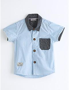 Jungen Hemd Einfarbig Baumwolle Sommer Kurzarm