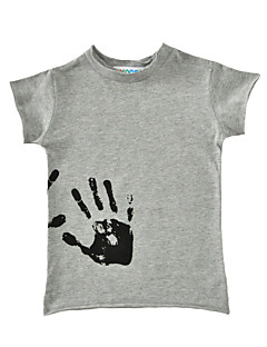 Jungen T-Shirt Druck Baumwolle Sommer Kurzarm Normal