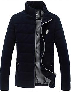 コート レギュラー パッド入り メンズ,カジュアル/普段着 ソリッド コットン その他 コットン-シンプル 長袖