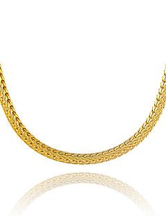 Homens Mulheres Colares em Corrente Forma Geométrica Cobra Chapeado Dourado Original bijuterias Euramerican Bijuterias Destaque Jóias Para