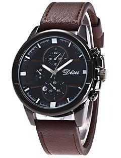 Herrn Sportuhr Militäruhr Modeuhr Armbanduhr Einzigartige kreative Uhr Armbanduhren für den Alltag Quartz Kalender Leder BandBequem