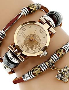 Damen Kinder Modeuhr Armband-Uhr Einzigartige kreative Uhr Armbanduhren für den Alltag Chinesisch Quartz Wasserdicht PU BandBequem
