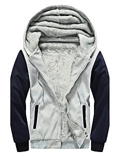 コート レギュラー パッド入り メンズ,カジュアル/普段着 カラーブロック コットン コットン-シンプル 長袖