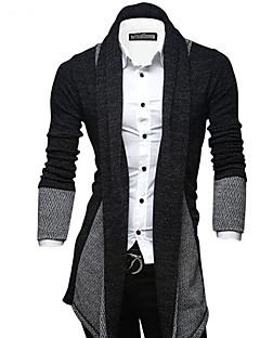 Masculino Longo Carregam,Para Noite Casual Moda de Rua Estampa Colorida Colarinho de Camisa Manga Longa Poliéster Elastano Outono Inverno