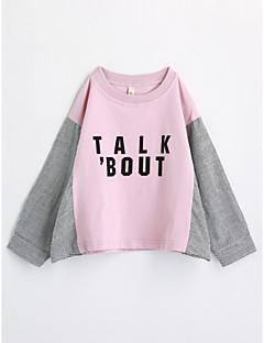 Tyttöjen Geometrinen T-paita Puuvilla Syksy Pitkähihainen