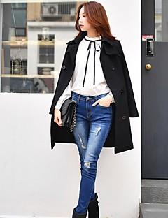 Feminino Vintage Simples chinoiserie Cintura Baixa Micro-Elástica Justas/Skinny Calças,Skinny Estampa Colorida,rasgado