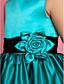A-line printesa podea lungime floare fată rochie - satin satin fără mâneci gât bijuterie cu floare de lan ting bride®