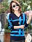 Normal Pullover Femme Mignon,Géométrique Bleu Beige Jaune Manches Longues Laine Autres Printemps Moyen Elastique