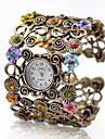 Pentru femei Ceas La Modă Ceas Brățară Quartz Aliaj Bandă Vintage Flori Brățară rigidă Elegant Bronz
