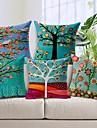 set de 5 frumos bumbac copac floare / lenjerie decorative pernă capac
