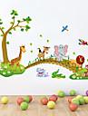 Animale Desene Animate Natură moartă Perete Postituri Autocolante perete plane Autocolante de Perete Decorative,Vinil Material Detașabil