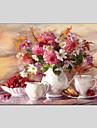 Peint a la main Nature morte / A fleurs/BotaniqueModern Un Panneau Toile Peinture a l\'huile Hang-peint For Decoration d\'interieur