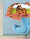 Animale / Botanic / #D Perete Postituri 3D Acțibilduri de Perete,PVC 60*90CM