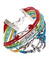 Pentru femei Bratari Wrap Design Unic Multistratificat plaited costum de bijuterii Piele  Aliaj Iubire Ancoră Bijuterii Pentru Petrecere