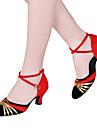 Latin-Pantofi de dans(Negru / Roșu / Argintiu / Auriu) -NePersonalizabili-Damă