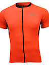 SPAKCT Maillot de Cyclisme Homme Manches Courtes Velo Hauts/Tops Sechage rapide Respirable Decorations Reflechissantes 100 % Polyester