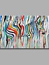 Pictat manual Peisaj / Pop / Animal Picturi de ulei,Modern Un Panou Canava Hang-pictate pictură în ulei For Pagina de decorare