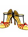 Chaussures de danse(Bleu / Violet / Rouge / Argent / Or) -Personnalisables-Talon Personnalise-Similicuir-Latine / Salsa