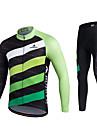 Miloto Maillot et Cuissard Long de Cyclisme Homme Unisexe Manches Longues Velo Pantalon/Surpantalon Survetement Maillot Collants