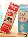 cutie de lapte de design textil sac stilou