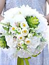 """Flori de Nuntă Rotund Trandafiri Buchete Nuntă Petrecere / Seară Poliester Satin Flori Uscate 9.84""""(Approx.25cm)"""