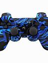 Joystick sans fil bluetooth dualshock3 sixaxis controleur rechargeable gamepad pour ps3 (multicolore)