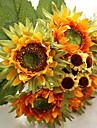 6 Une succursale Soie Tournesols Fleur de Table Fleurs artificielles