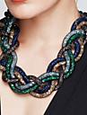 Pentru femei Coliere Cross Shape Aliaj La modă Bijuterii Statement Vintage Negru Maro Rosu Verde Albastru Bijuterii PentruPetrecere