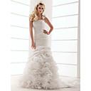 povoljno Kuhinjske slavine-Haljina sa širokom suknjom Na jedno rame Srednji šlep Taft Vjenčanica s Drapirano padajuće Cvijet po LAN TING BRIDE®