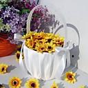 """baratos Cestas de Flores-Cesto de Flores Madeira Cetim 3 1/2"""" (9 cm) Acrilíco Laço Laços"""