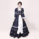 preiswerte Kigurumi Pyjamas-Rokoko / Viktorianisch Kostüm Damen Kleid / Party Kostüme / Maskerade Tintenblau Vintage Cosplay Jazz Wolle Langarm Normallänge